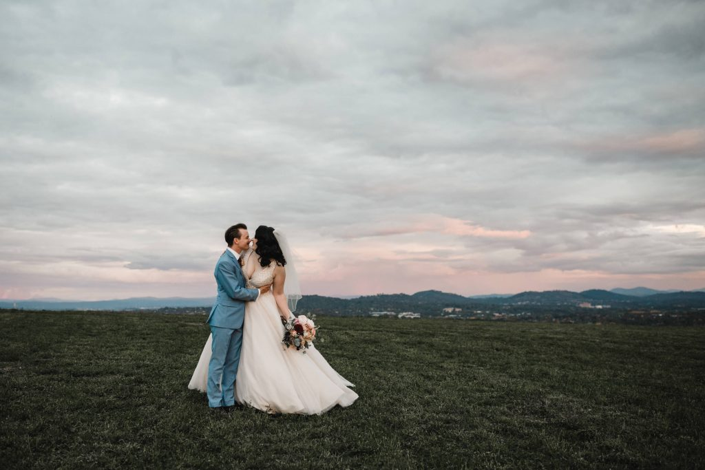 Winter wedding canberra, canberra wedding photographer, bride and groom, sunset, bowral wedding photographer, fine art, candid, natural