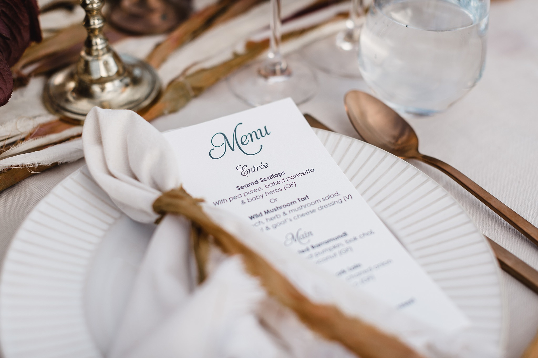 poachers pantry wedding menu