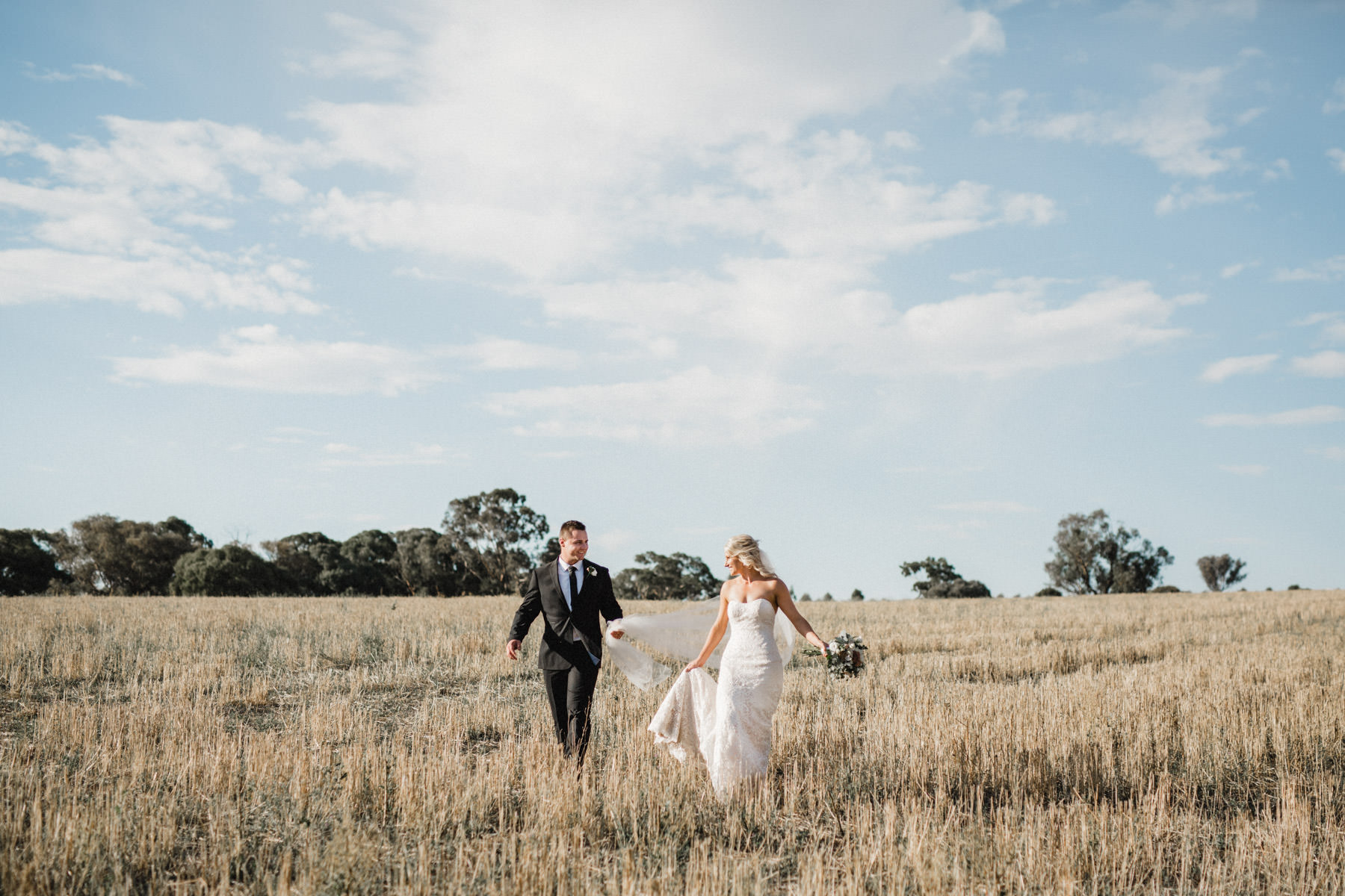Country wedding, australian wedding, farm wedding, canberra wedshed, young, harden, bowral wedding photographer, bride and groom, cane field