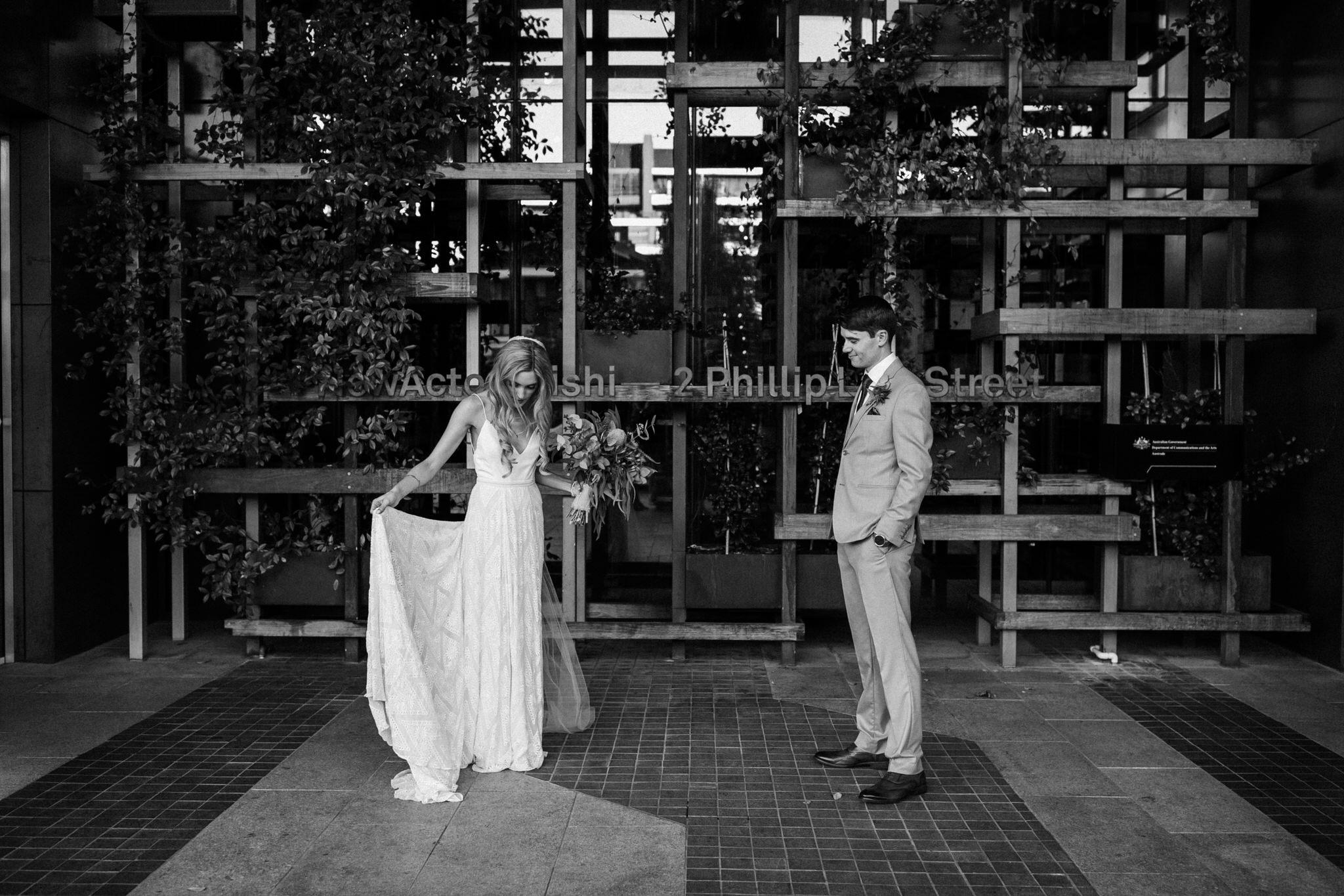 An urban wedding at Parlour Wine Room featuring Rue de Seine by Sunshine Coast Wedding Photographer