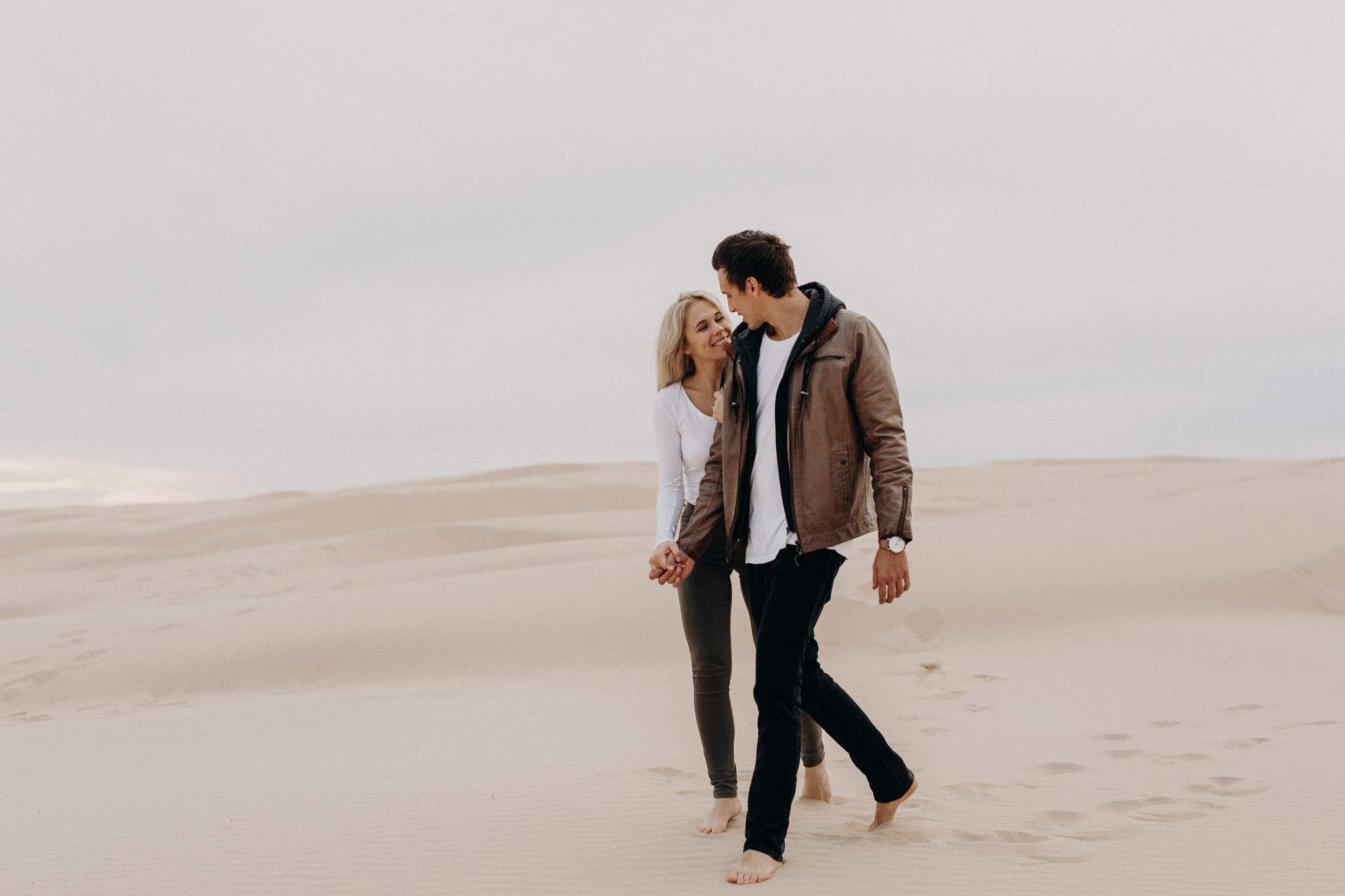 stockton dunes, engagement session, beach, photoshoot, engagement shoot, wedding photographer, maleny, mooloolaba, sunshine coast, byron bay, brisbane, couples, family photography, fun, natural, wedding photography