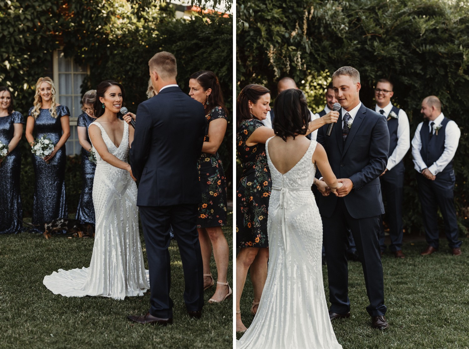 Small home wedding in countryside featuring Karen Willis Holmes dress by Sunshine Coast Wedding Photographer Shae Estella Photo
