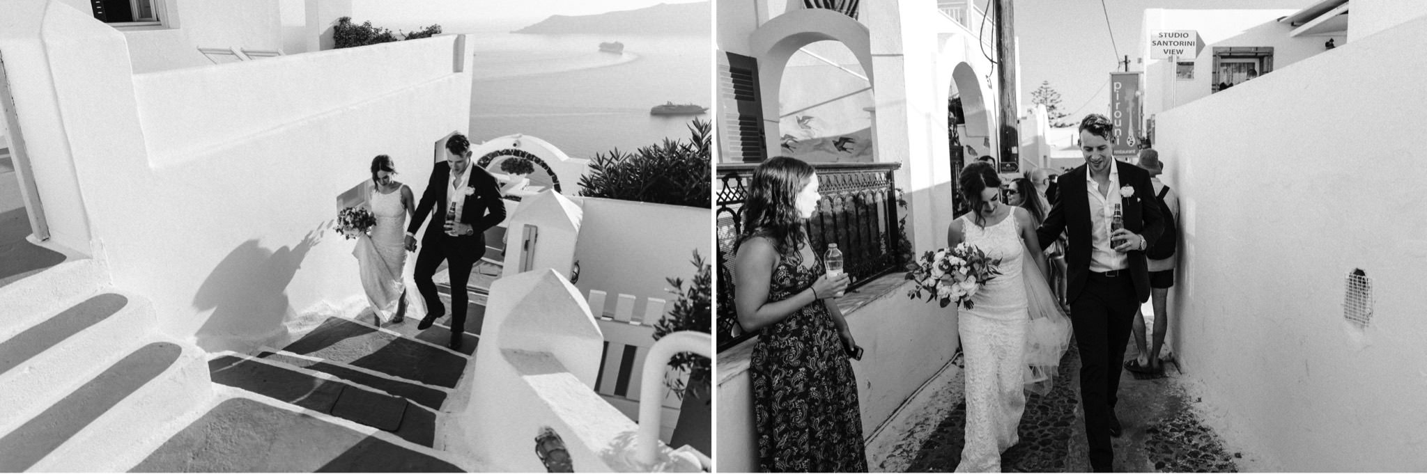 A destination wedding at Dana Villas, Santorini in summer by Sunshine Coast and Maleny wedding photographer Shae Estella Photo