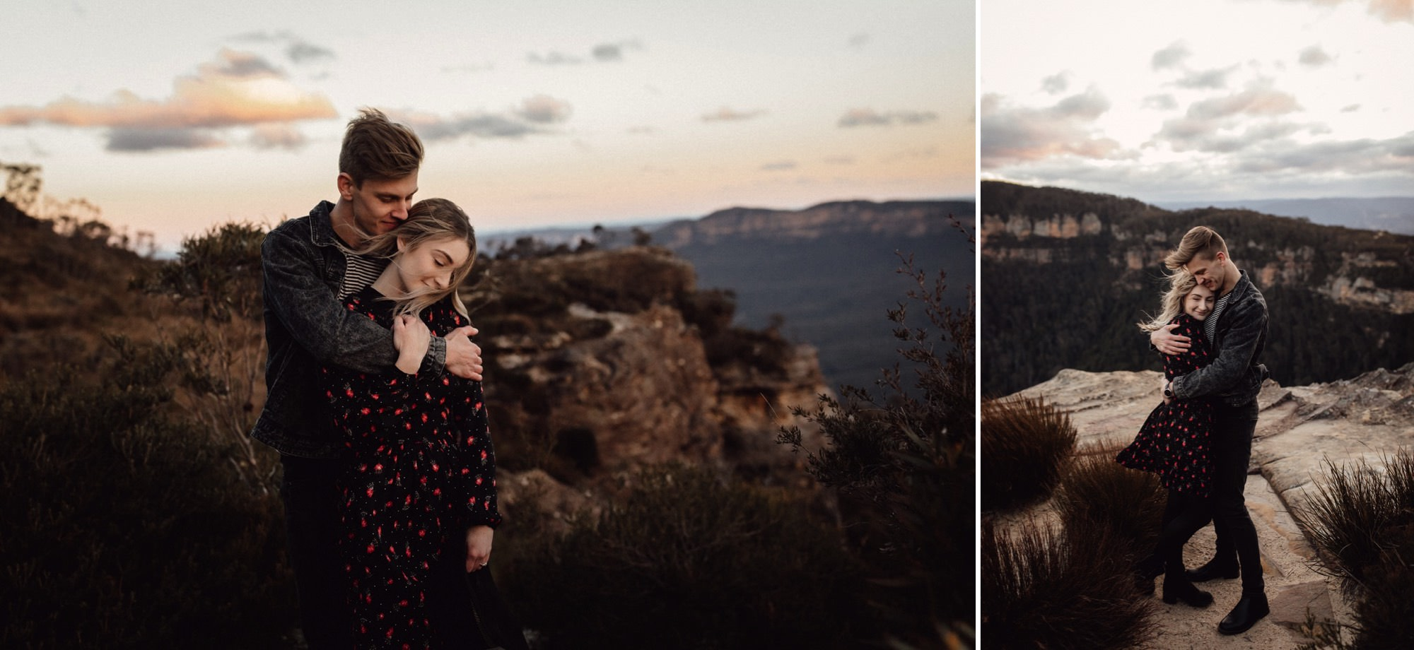 Blue Mountains engagement shoot at Katoomba with couple by Sunshine Coast Wedding Photographer