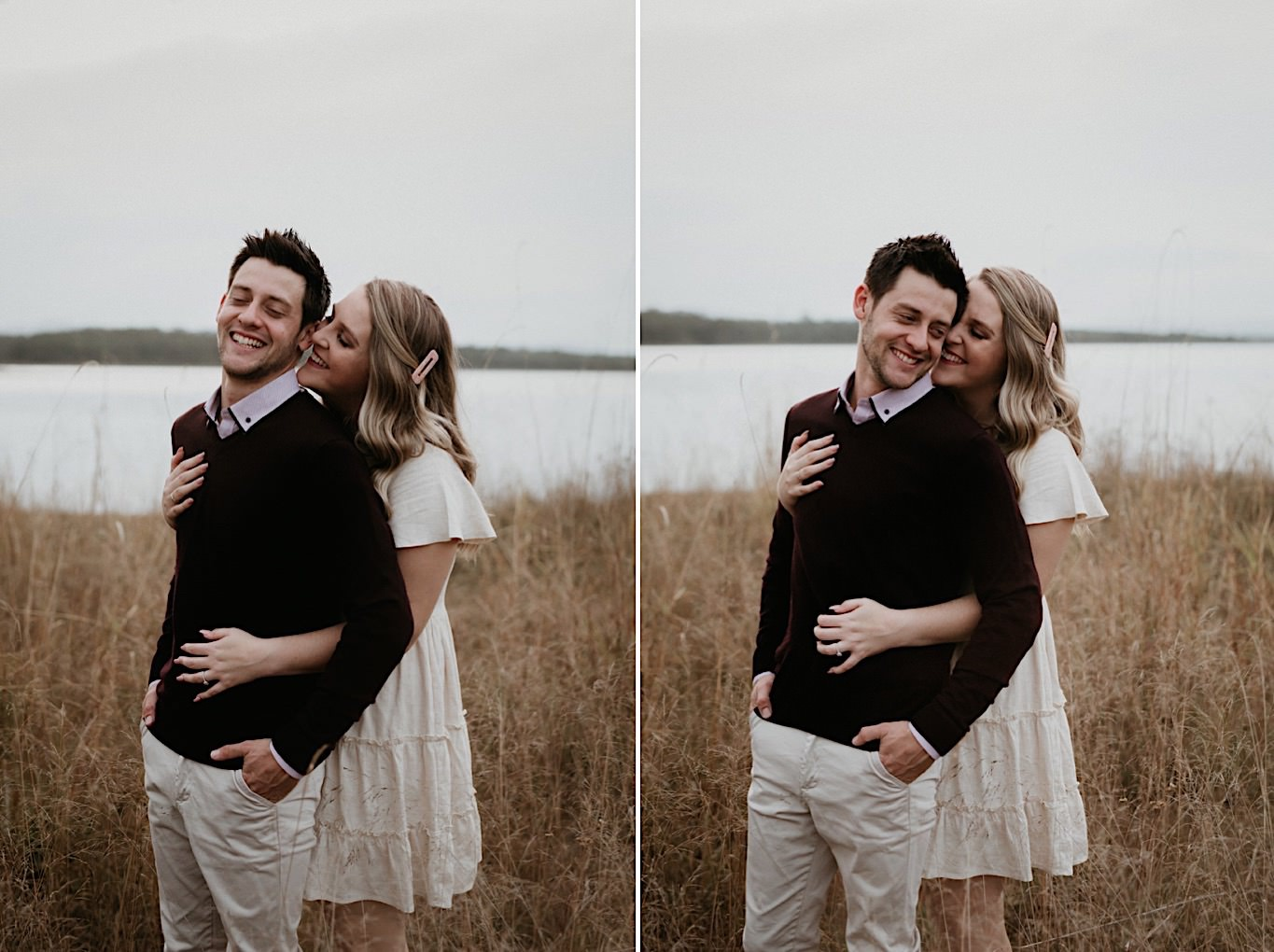 rustic outdoor engagement photos