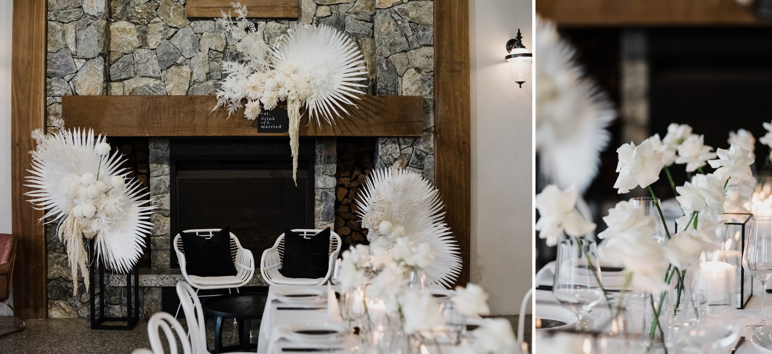 Black and White Wedding style inspiration at The Old Dairy